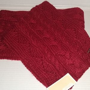 MK Infinity Knitted Scarf